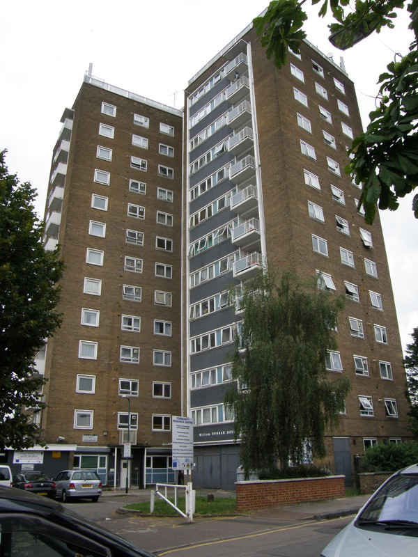 A tower block on Albert Road
