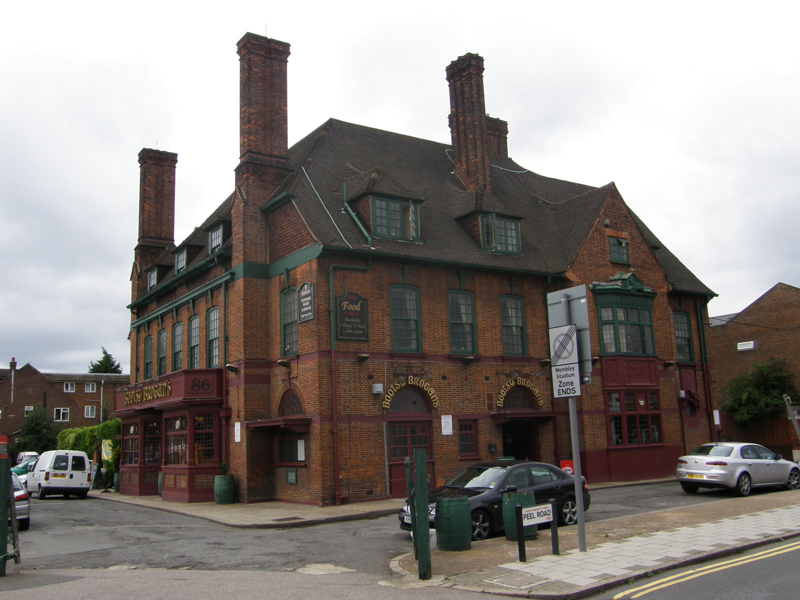 The Bootsy Brogans  pub on the corner of Peel Road and East Lane