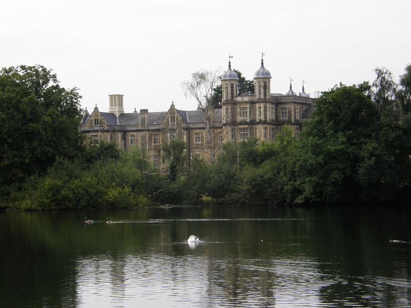 Snaresbrook Crown Court from the northern side of Eagle Pond