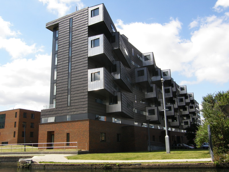 Modern flats on the Regent's Canal