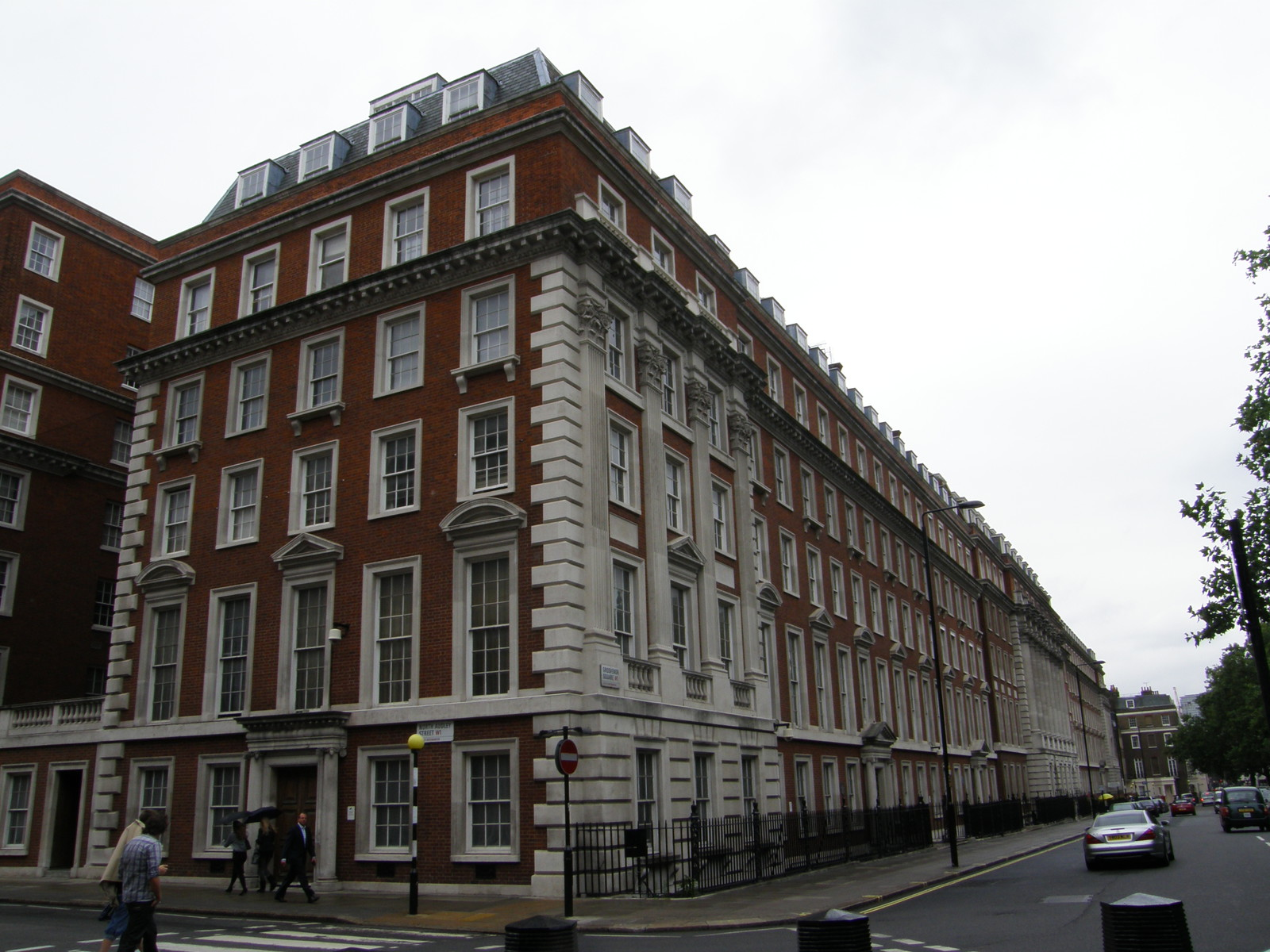 A mansion block in Mayfair