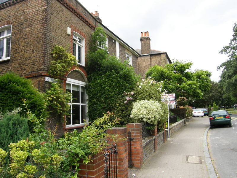 Houses on Ealing Green