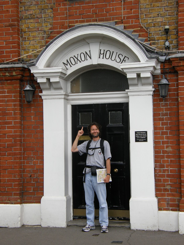 Mark outside Moxon House