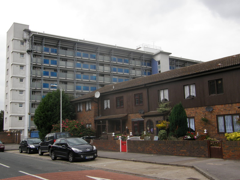 A housing estate in Canning Town