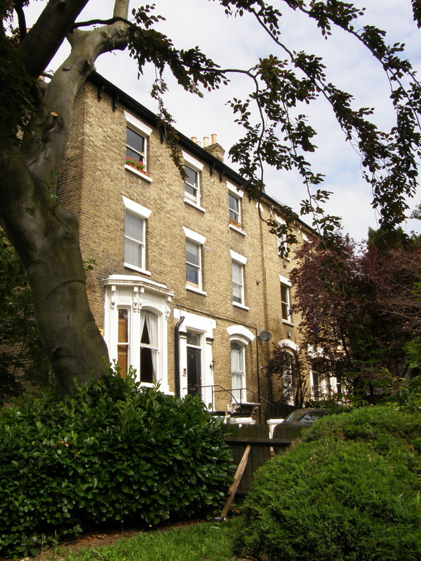 Pretty terraced housing along Hermon Hill