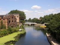 The junction of the Lee Navigation and the River Lea