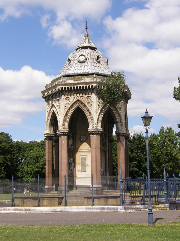 A Grade II*-listed drinking fountain in Victoria Park