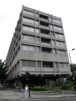 The grey concrete block on Palace Gardens Terrace
