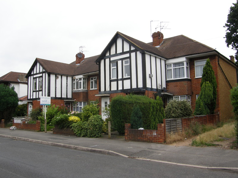 Attractive Mock Tudor housing on Beechwood Avenue