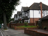 Mock Tudor houses on Carbery Avenue