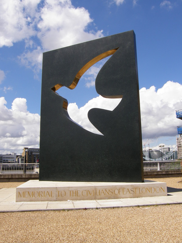 A commemorative sculpture in Cinnabar Wharf