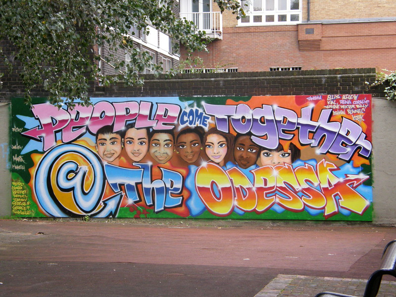 Amazing graffiti at the Odessa Street Youth Club