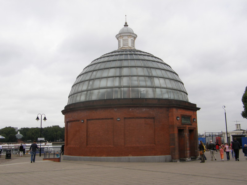 The southern entrance to the Greenwich Foot Tunnel