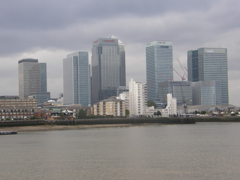 Canary Wharf from the Thames Path