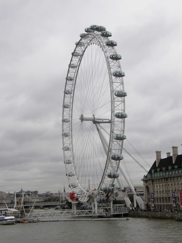 The London Eye, as seen from Westminster Bridge