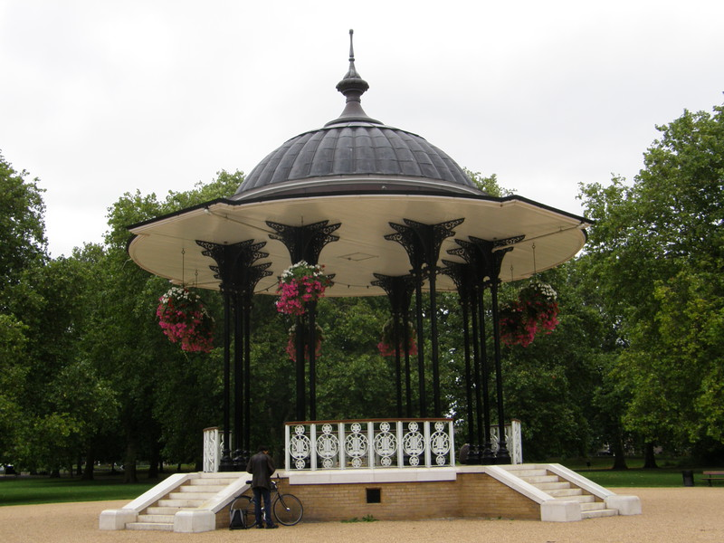 The bandstand in Southwark Park