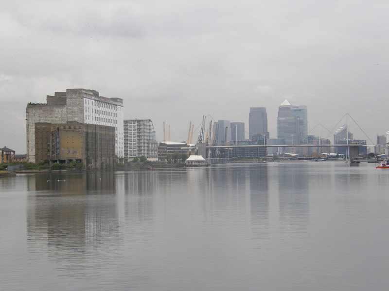 Royal Victoria Dock with the Spillers Millennium Mills on the left