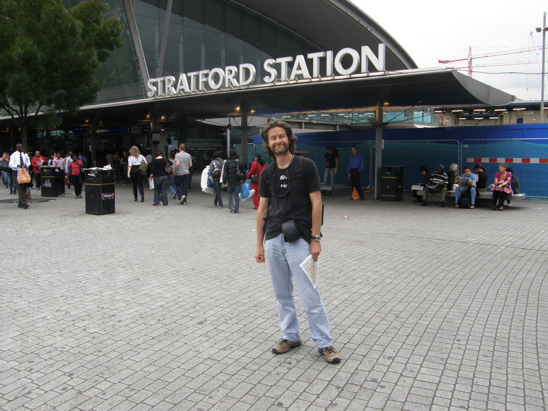 Mark at Stratford station