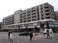 The stylish Waitrose block next to Finchley Road station