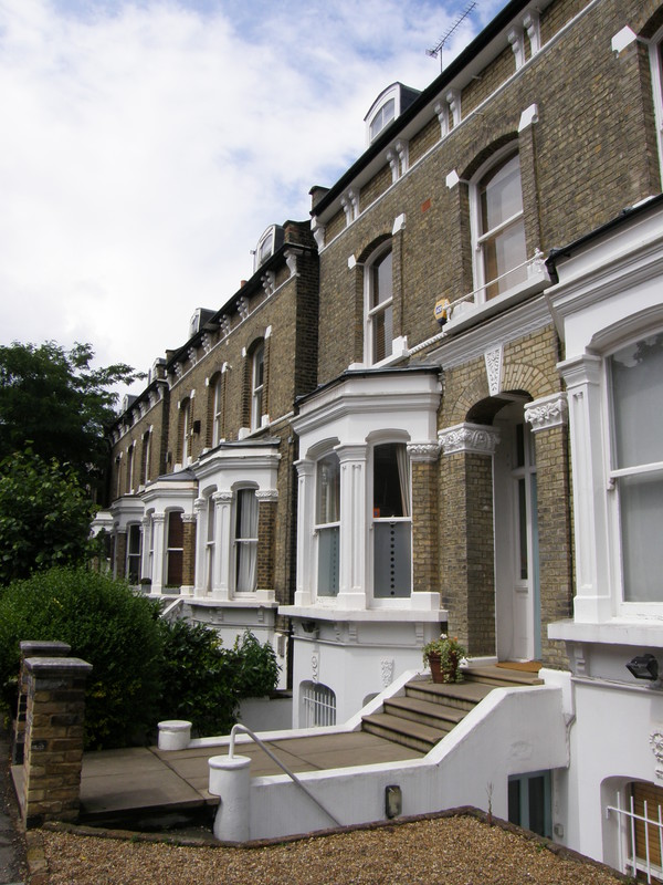 Attractive terraces in Stockwell
