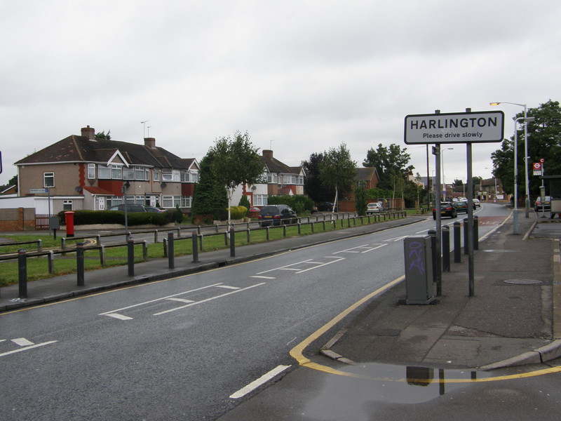 Entering Harlington