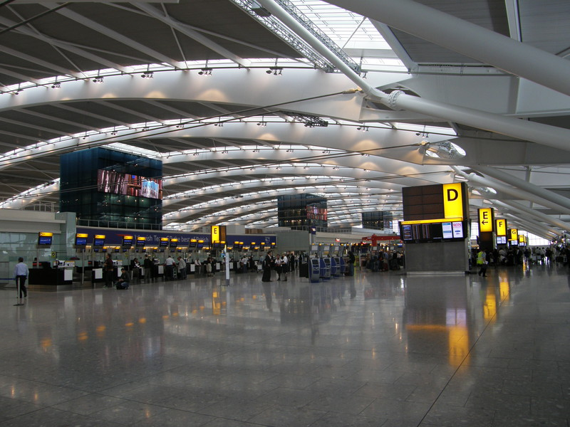 The Departures level in Terminal 5