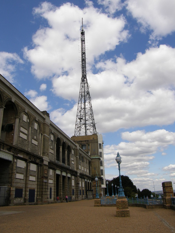 The television transmitter at Alexandra Palace