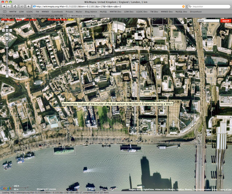 A screenshot of Wikimapia